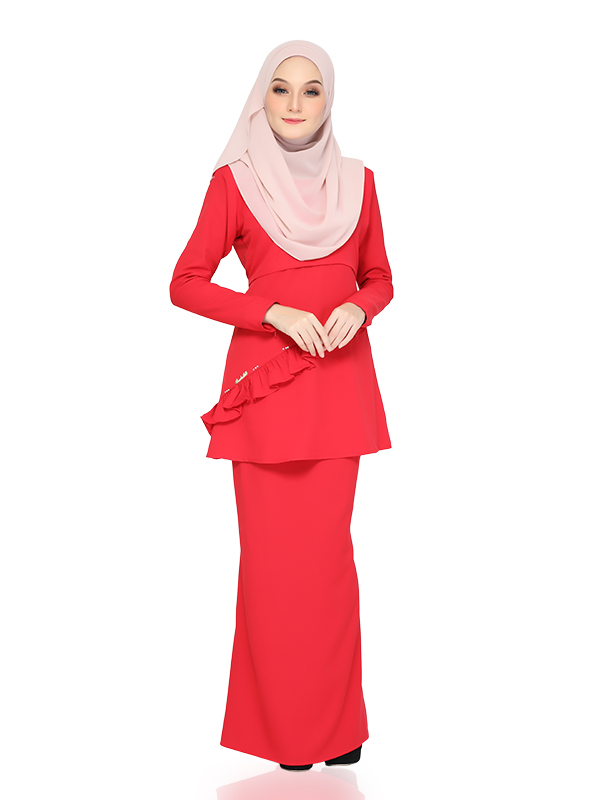 Mecca Kurung - Red Chilli